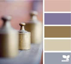 Pink, lavender and brown