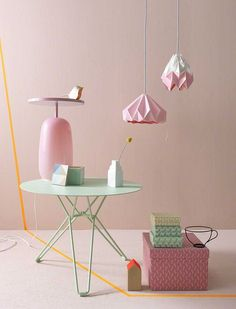 Pretty vignette of pastel pink and green products - Annika Kampmann
