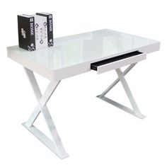 Scour Modern White Desk