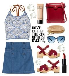 """Don't Be Like The Rest Of Them Darling"" by cara-mia-mon-cher ❤ liked on Polyvore featuring River Island, A.P.C., Bobbi Brown Cosmetics, Whistles, Ben-Amun, MANU Atelier and NARS Cosmetics"
