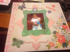 My first scrapbook page made with my brother scan n' cut.  Love this machine