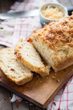 Don't feel like messing with yeast? This beer bread is for you! Bacon and chipotle cheddar add amazing flavor to this easy bread!