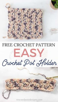 The Best Crochet PotHolder Pattern Make this FREE and EASY pot holder crochet pattern today! This free crochet potholder pattern is perfect to make for your kitchen to use as a hot pad too! for beginners dishcloth pot holders Crochet Potholder Patterns, Crochet Dishcloths, Knitting Patterns, Crotchet Patterns, Knitting Ideas, Sewing Patterns, Quilting For Beginners, Crochet Patterns For Beginners, Crochet Ideas