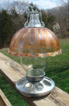 Bird Feeder Designed Like Oil Lamp