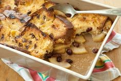 Baked Panettone French Toast with Apples and Cranberries by wholefoodsmarket #French_Toast #Panettone