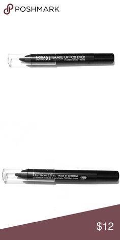 Make Up For Ever Eyeliner Make Up For Ever Eye Pencil in M-10 (Matte Black) || Brand New || Deluxe Size .01 oz  A long-wearing, waterproof eye pencil that pairs ultra-creamy glide with instant color intensity. Make Up For Ever Makeup Eyeliner