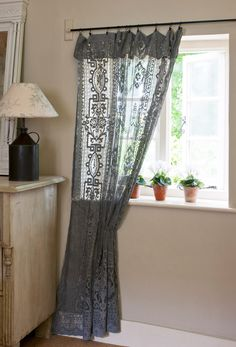 Making Up Dyed Lace Curtains How-to Tutorial by Annie Sloan   Fabric originally dyed with Chalk Paint®   Annie Sloan Paints Everything book