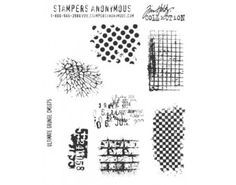 Stampers Anonymous - Tim Holtz - Cling Mounted Rubber Stamp Set - Ultimate Grunge at Scrapbook.com $18.66