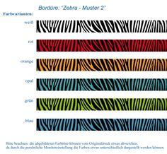 Bordüre: Zebra-Steifen 2 • Mein Bordürenladen - DaWanda