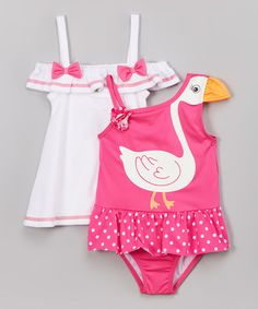 Another great find on #zulily! Pink Swan Princess One-Piece & Cover-Up - Infant & Toddler #zulilyfinds