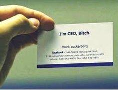 ¿Qué te parece la #tarjetadevisita de Mark Zuckerberg, fundador de #facebook?