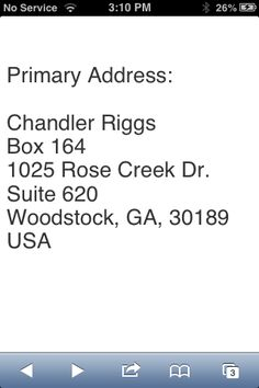 Chandler Riggs address