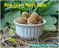 Mighty Dog Mutt Balls - an easy tasty no bake dog treat that can be shared with the humans!  #dogtreats