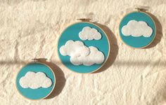 Baby Nursery Embroidery Hoop Wall Art   Felt by CustomKraftShop, $40.00