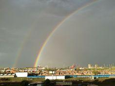 Doble arco iris sobre Buenos Aires