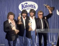 Country music group Alabama attends the 19th Annual Academy of Country Music Awards on May 14, 1984 at Knott's Berry Farm in Buena Park, California.