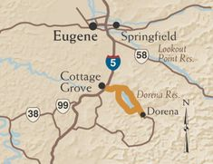 """The Cottage Grove Covered Bridge Tour Route has seven spectacular bridges for you to view. Cottage Grove is known as the """"Covered Bridge Capital of Oregon""""."""