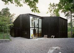 Nacka-Sweden-In-Praise-of-Shadows-black-wooden-construction