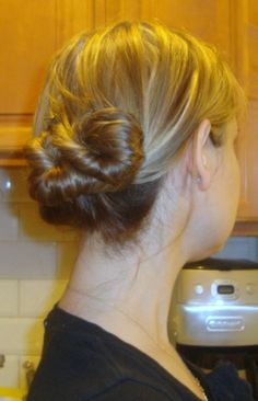 if I had long hair that is, twisted updo via @_PenelopeNYC