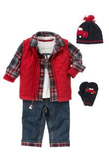 I know some soon-to-be-born little boys that will need this outfit next winter
