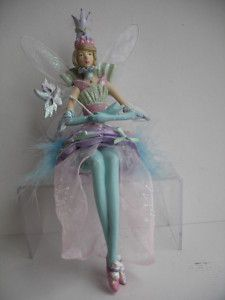 GISELA GRAHAM CHRISTMAS CARNIVAL FAIRY SHELF SITTER