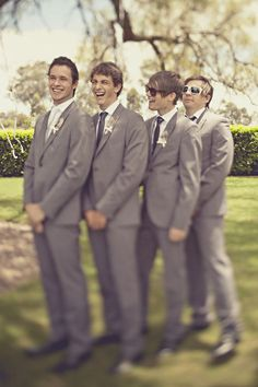 I like these more casual suits, especially in gray. :)