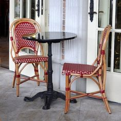 Paris Cafe chairs- reminds me of my honeymoon!