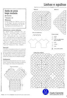 Crochet e moda: Linda saída de praia, que pode ser usada como vestido
