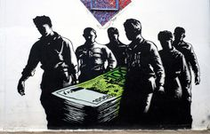 Greek graffiti response to financial crisis and social unrest - Street Art - OverHerdOverScene - OHOS - SOTS
