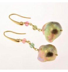 Orecchini con perle barocche multicolor