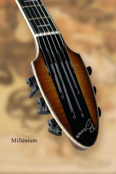 Beautiful headstock - Millénium - Brua Guitars - France http://www.bruaguitars.com/