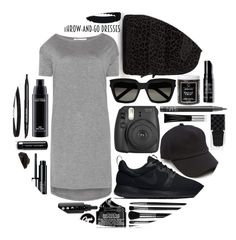 """""""Throw and Go Dress: Contest Entry"""" by isquaglia ❤ liked on Polyvore featuring Gucci, Vans, T By Alexander Wang, NIKE, rag & bone, Marc Jacobs, Fujifilm, Yves Saint Laurent, NARS Cosmetics and Little Barn Apothecary"""