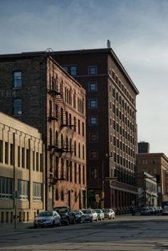Buildings in Minneapolis' Warehouse District.