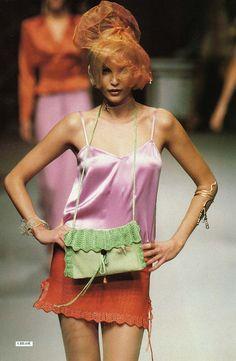1995 - Karl Lagerfeld 4 Chloé show - Nadja Auermann