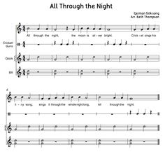 Beth's Music Notes: All Through the Night-BAG song