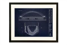 Rogers Centre - Toronto Blue Jays from Ballpark Blueprints - Wall Art - Sports Gifts
