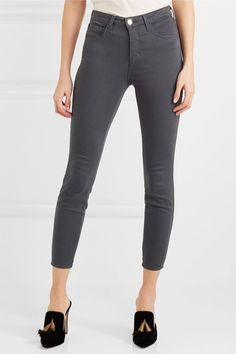 L'Agence - Margot Cropped High-rise Skinny Jeans - Gray - 27