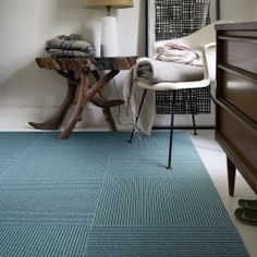 Our modern carpet tiles allow you to create custom, unique area rugs that are as durable as they are stylish. Design your perfect rug with FLOR. Teal Carpet, Neutral Carpet, Carpet Tiles, Map Rug, Flor Rug, White Wood Floors, Carpet Squares, Latest Colour, Houses