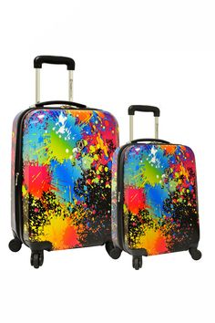 Paint Splatter Luggage Set - why shouldn't I have fun luggage???