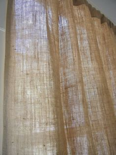 Burlap Curtain Panels