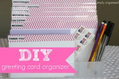 DIY: greeting card organizer