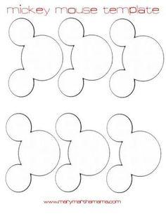 Resultado de imagem para printable mickey mouse ears template