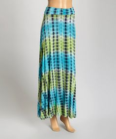 Loving this Blue Ombré Tie-Dye Maxi Skirt on #zulily! #zulilyfinds