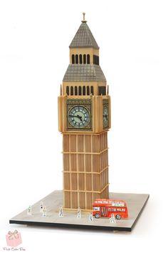 "40th Birthday ""Big Ben"" clock tower cake!  #Elizabeth #Tower #London #Cake"
