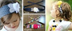 Chic Headbands!  @Nicole Horne...I will have to make Kiley another one and sew it like this so it's easier to tie!!!