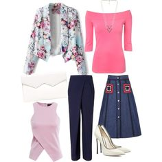 Casual chic wears by kapoorvinnie on Polyvore featuring polyvore, fashion, style, AX Paris, Jane Norman, Miu Miu, Rejina Pyo, Casadei, Fabiola Pedrazzini and NLY Accessories