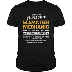 ELEVATOR-MECHANIC #teeshirt #clothing. GET YOURS  => https://www.sunfrog.com/LifeStyle/ELEVATOR-MECHANIC-139685582-Black-Guys.html?60505