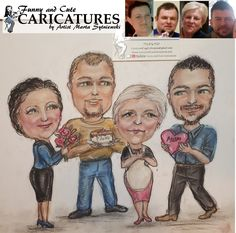 Thank you Mommy for caring about us, even when we are adults, for loving us and for raising us and for always being our Mom. To order a caricature portrait as a gift for your mother call artist Marta Sytniewski at 773-574-7767 or email FunnyAndCuteCaricatures@gmail.com  #ThankYou #Thankyoumom #momcaricature #Mothercaricature #Motherportrait #Giftformom #Mothergift #Giftformother MartaSytniewski #Caricature Mother Gifts, Gifts For Mom, Mothers, Thank You Mom, Caricatures, Raising, This Is Us, Portrait, Funny