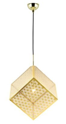 A modern gold effect pendant shade is the ideal lighting option to create soft, ambient illumination in any living space #lights #home