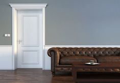 Whether you want to install new molding around interior doors or update your existing one, get the lowdown on buying and building doorway casing here. Home Design Diy, House Design, Interior Design Photos, Best Interior, Room Interior, Interior Ideas, Casing Doorway, Diy House Projects, Home Upgrades